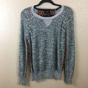BKE Boutique mixed media sweater sz M